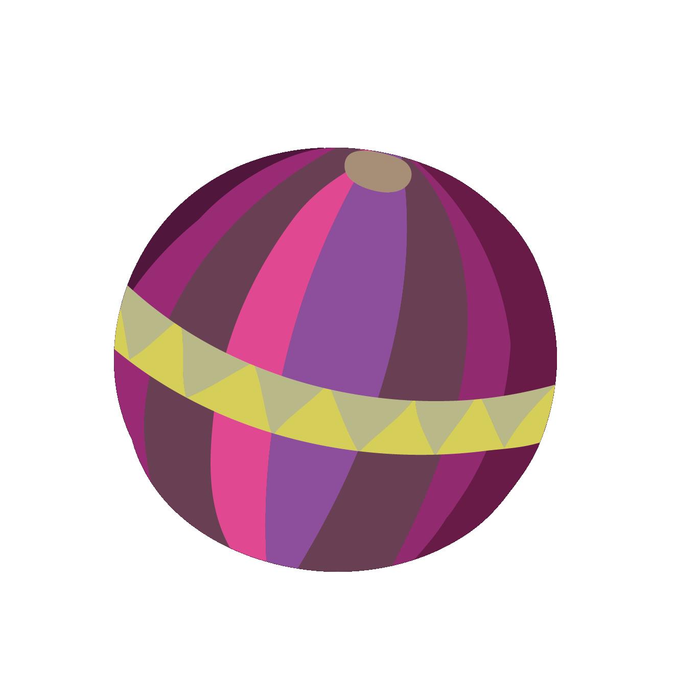 鞠(まり)のイラスト【正月・子供・球・ボール】