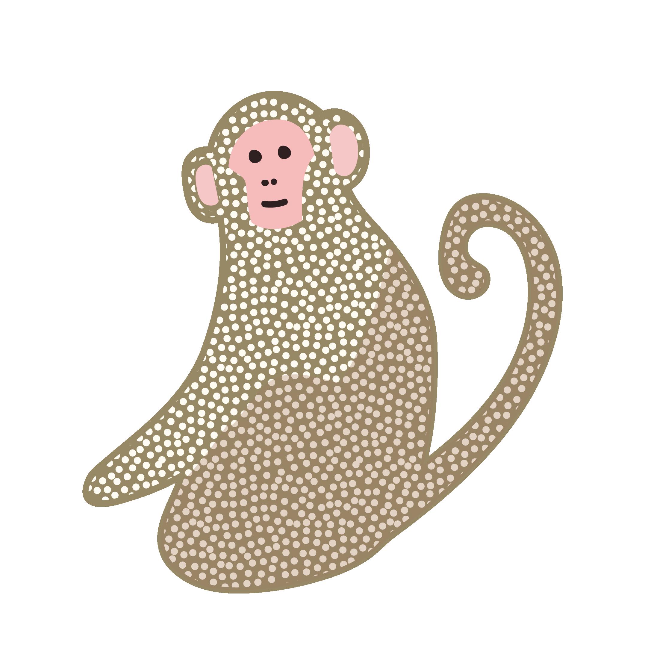 おしゃれでかわいい♪猿(サル・モンキー)の 無料 イラスト【動物】