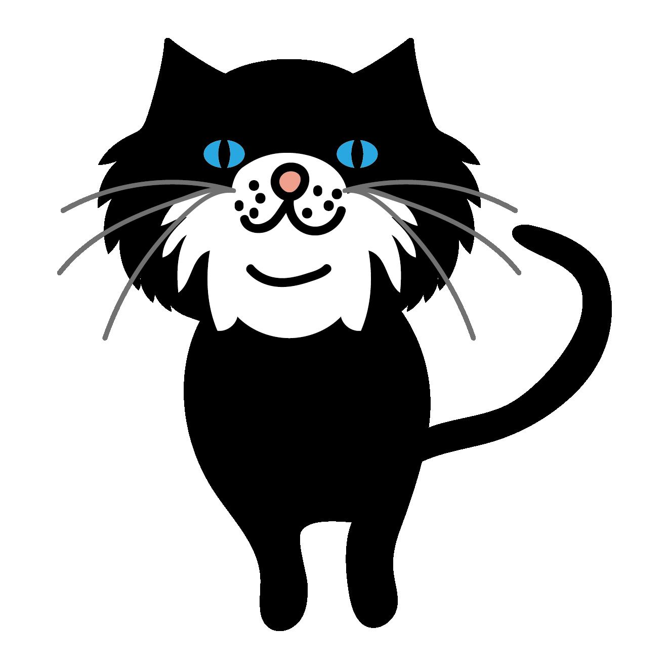 猫 かっこいい イラスト