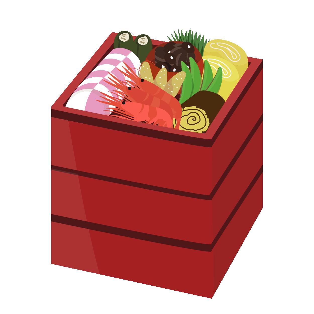 おせち(御節)料理のイラスト!【正月】