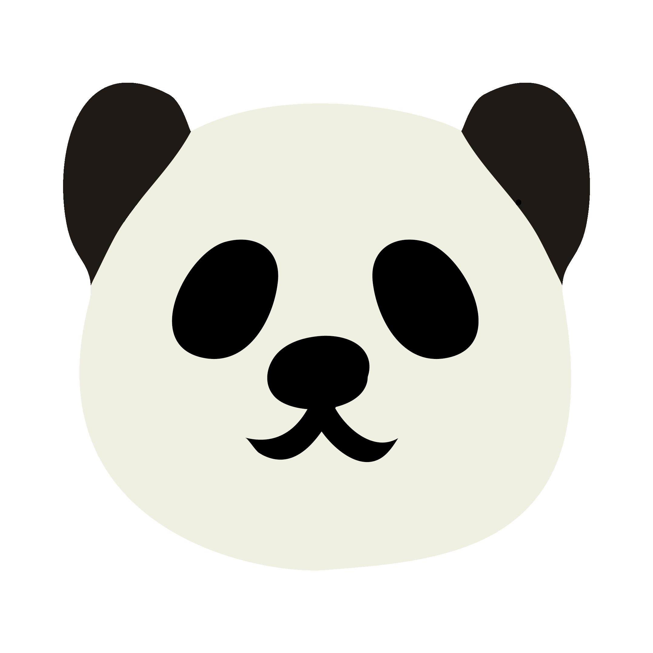 パンダ  無料 イラスト かわいい!顔アップ♪