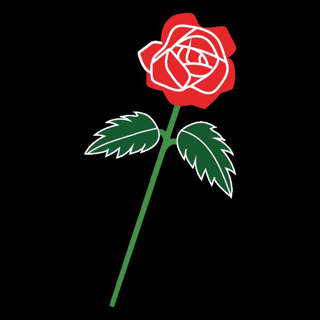 かわいい♪ 薔薇(バラ・ばら)の フリー イラスト