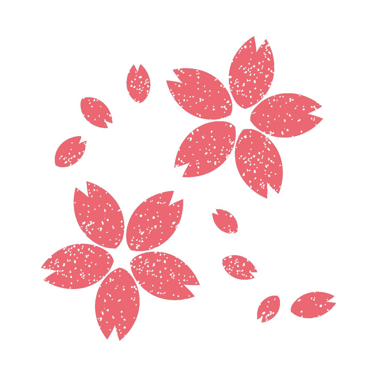 桜 スタンプ イラスト!ひらりひらり♪ | 商用フリー(無料)のイラスト