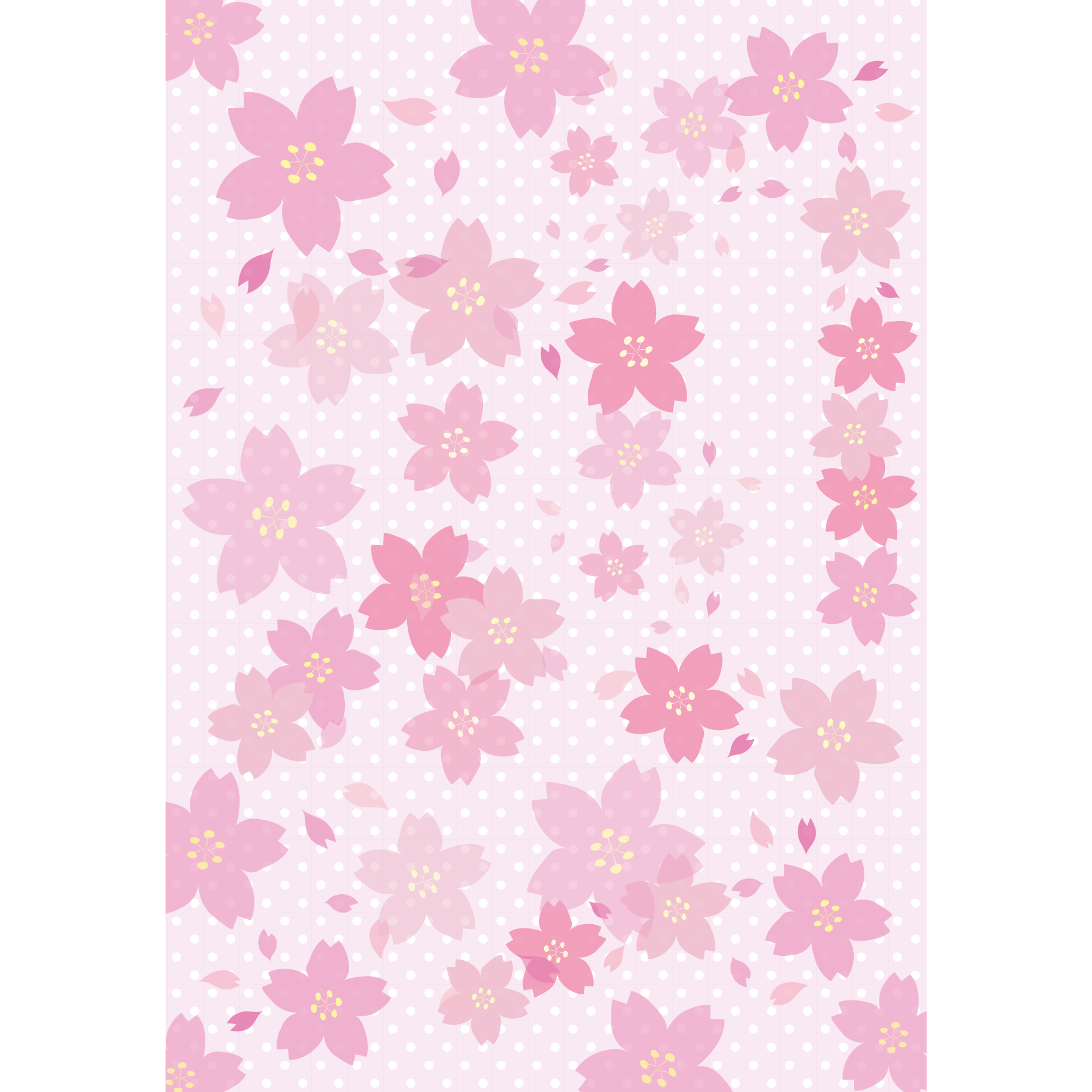 桜(サクラ)のかわいい背景素材 フリー イラスト a4サイズ | 商用フリー