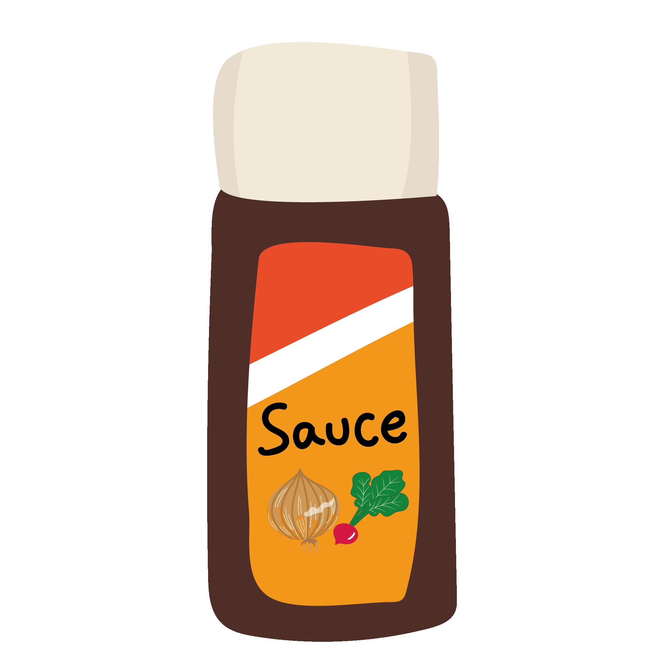 ソースのイラスト 【調味料・レシピに!】