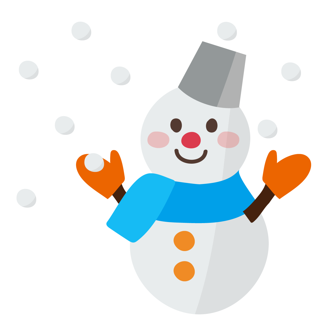 雪の日の雪だるまのイラスト天気 商用フリー無料のイラスト素材