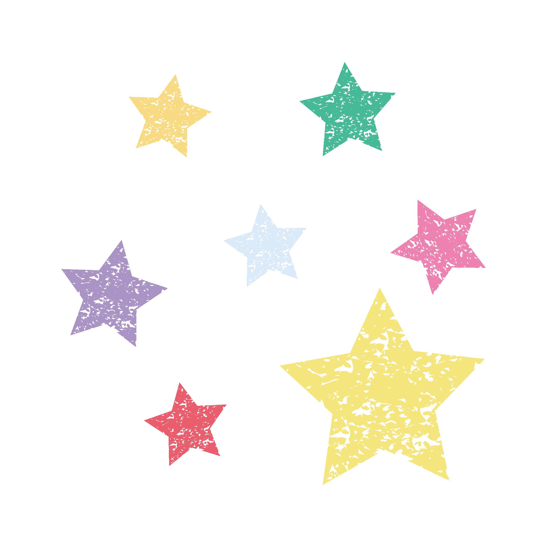 星(スター)のスタンプ フリー イラスト