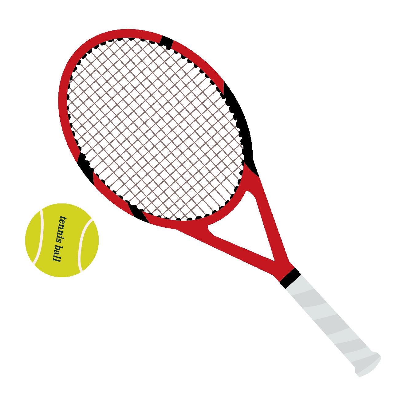 テニスラケット&テニスボールのイラスト | 商用フリー(無料)のイラスト
