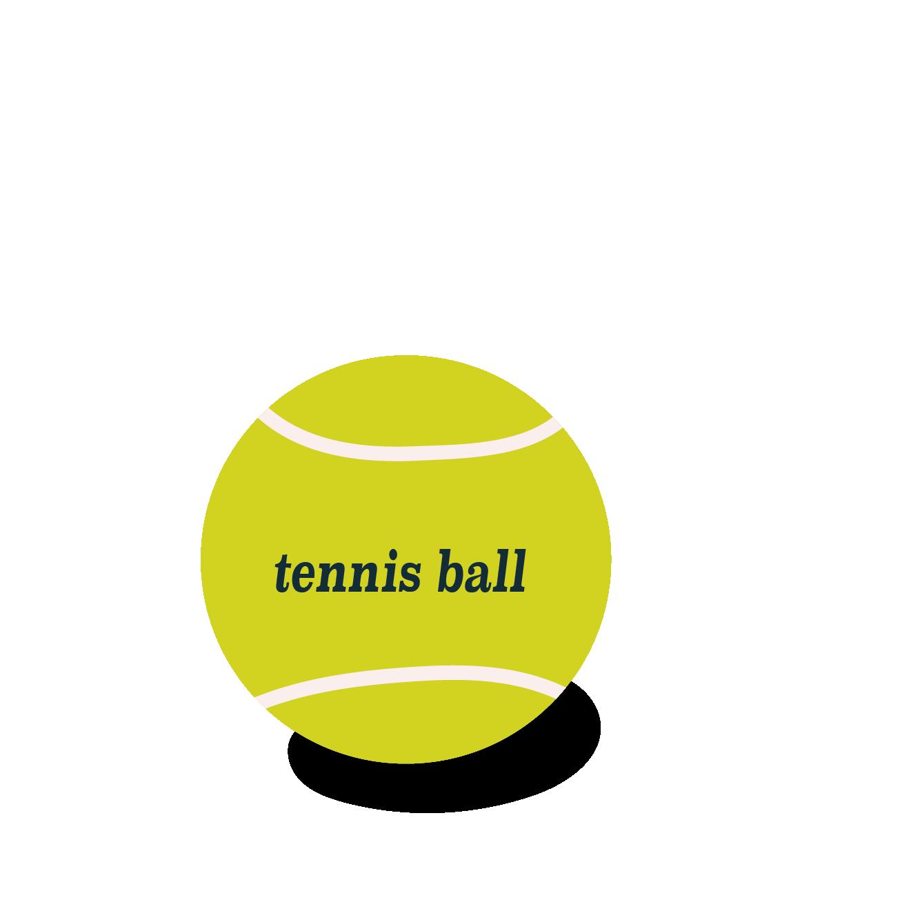 テニスの硬式ボール  無料 イラスト【スポーツ】