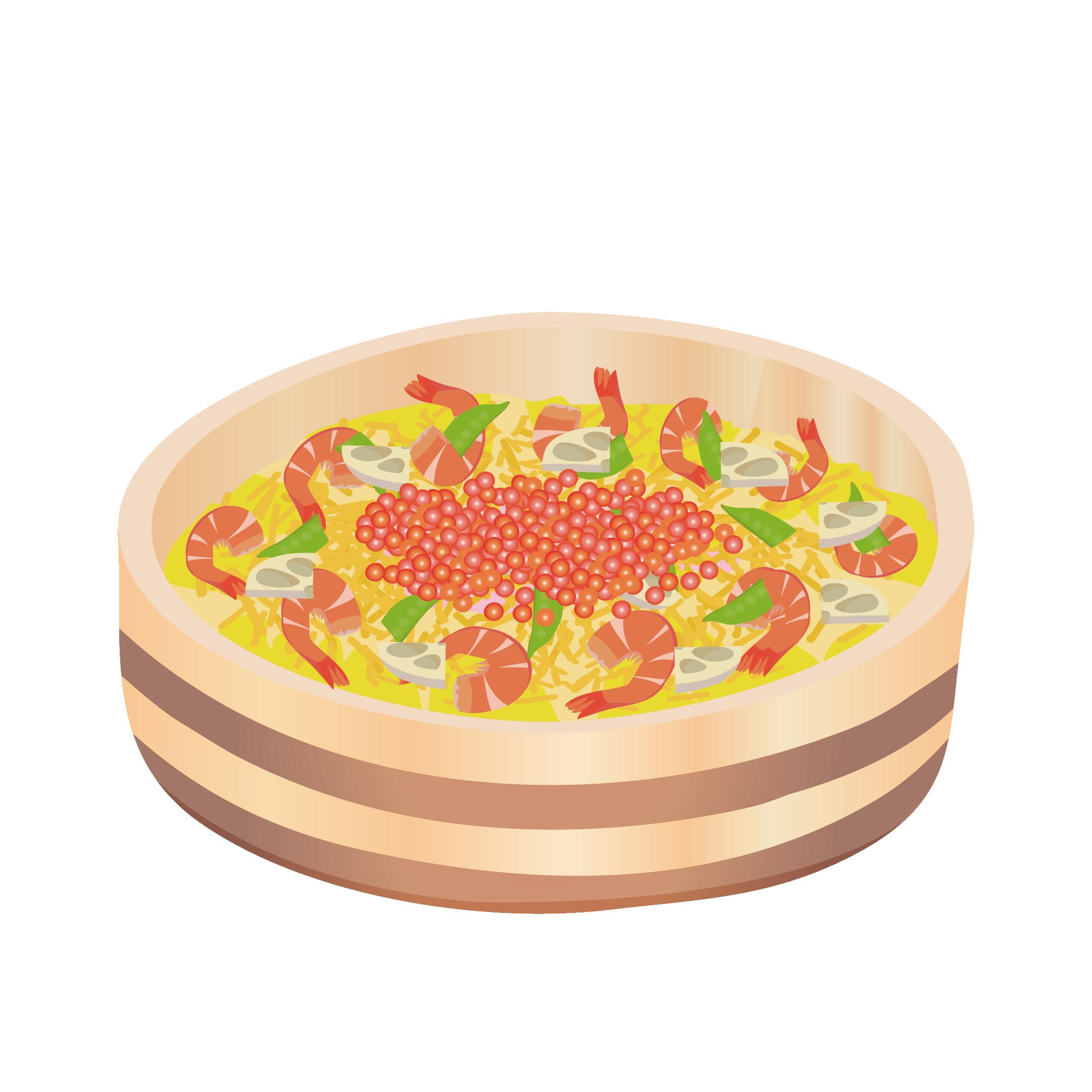 豪華なちらし寿司 イラスト♪ | 商用フリー(無料)のイラスト素材なら