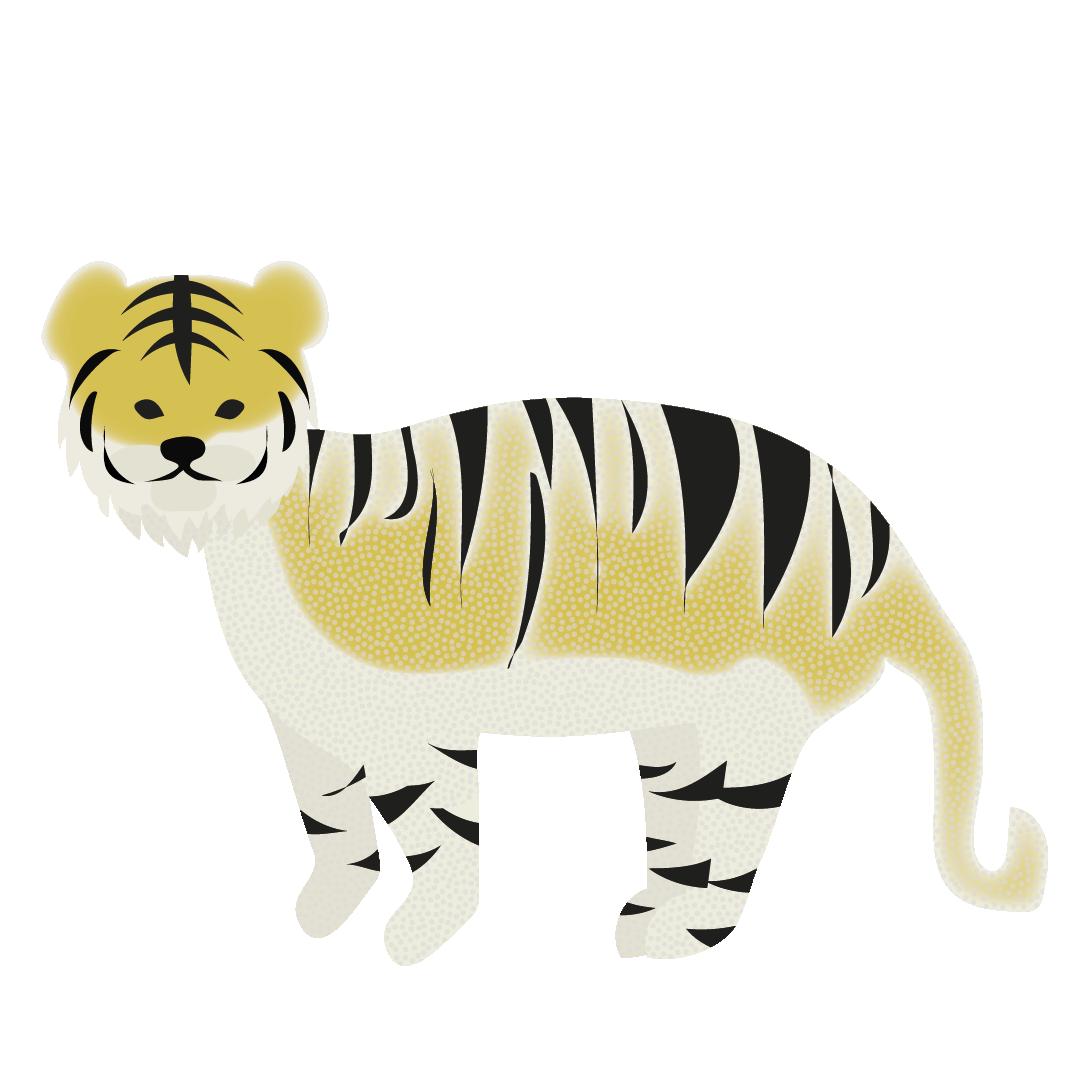オシャレでかわいい♪虎(とら・トラ)のイラスト   商用フリー(無料