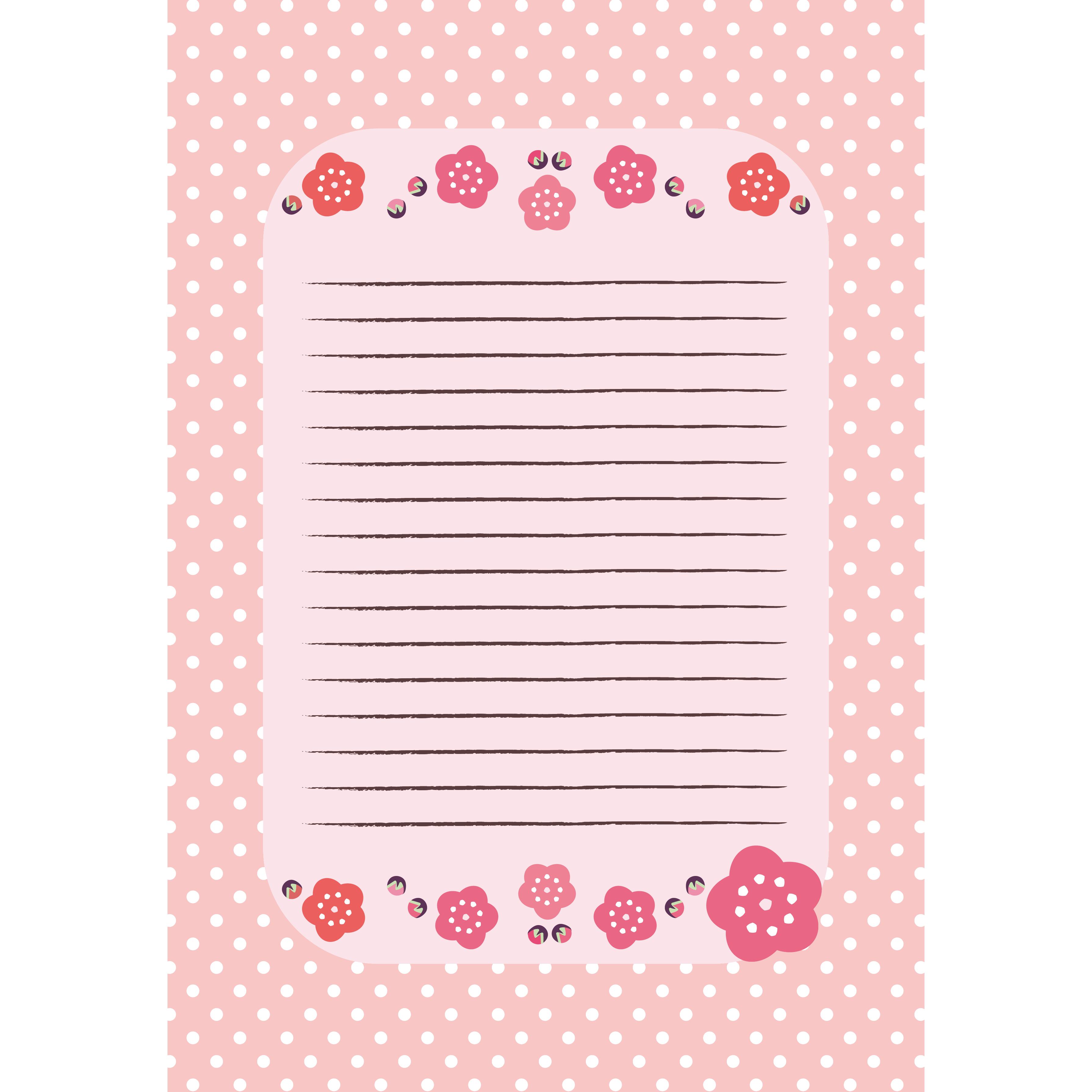 梅の かわいい便箋(レターセット) フリー イラスト