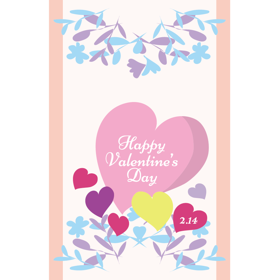 バレンタイン カード  無料 イラスト♪ハガキサイズ
