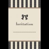 リボンがおしゃれでかわいい♪招待状 テンプレート(ベージュ) イラスト