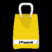 小学生(子供)!水泳バッグ・スイミングバッグ(黄色)無料 イラスト