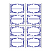 カワイイ宛名ラベル(住所欄付き)・メモ帳のイラスト【ひな形】