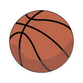 バスケ(バスケットボール)の 無料 イラスト【スポーツ】