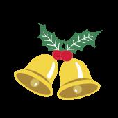 クリスマスベル(鈴)の フリー イラスト