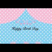 ドット柄 誕生日グリーティングカード 無料 イラスト
