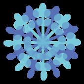 冬!綺麗な雪の結晶 無料 イラスト!