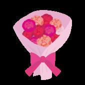 母の日に!カーネーションの花束のイラスト