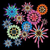 花火大会のクライマックスの豪華な花火!無料 イラスト