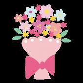 かわいい! 花束  フリー イラスト  手描き風♪