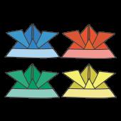折り紙の兜(かぶと)のイラスト【こどもの日】