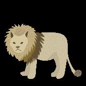 オシャレ!ライオン(らいおん)の 無料 イラスト 【動物】