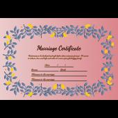 結婚証明書 テンプレート 英語 イラスト♪かわいいリーフスタイル♪
