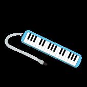 かわいい!鍵盤ハーモニカ(ピアニカ) 無料 イラスト【音楽教材】