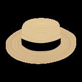 夏だ!麦わら帽子 の フリー イラスト