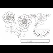 夏 の 塗り絵(ぬりえ)花!幼児、高齢者に! 無料 イラスト