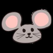 おしゃれ & かわいい!ネズミ(鼠,ねずみ)!顔!フリー イラスト!