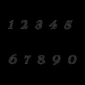 オシャレで印象的な数字のスタンプ!イラスト