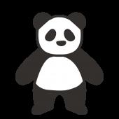 かわいい!パンダ フリー イラスト!ほっこり 簡単 パンダ♪