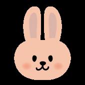 かわいい!ウサギの顔のアップ 無料 イラスト