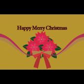 ポインセチアのクリスマスカード 無料 イラスト