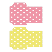 ポチ袋(お年玉袋)のテンプレート 水玉・ピンク・黄色 イラスト