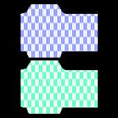 ポチ袋(お年玉袋)のテンプレート 和柄・矢絣(青緑)イラスト