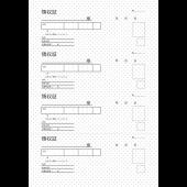 日本語のベーシックな領収書のテンプレート(ドット柄) イラスト