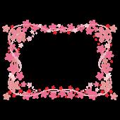 和風だけどかわいい♪桜のフレームデザイン イラスト