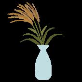 秋 ! 月見 イラスト すすき(ススキ)と 花瓶  無料  画像