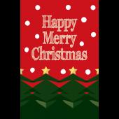おしゃれなクリスマスカードのテンプレートイラスト!【グリーティング】