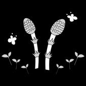 春 イラスト!かわいい♩つくしの 白黒 無料 イラスト