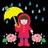 梅雨イラスト かわいい ♪ 男の子 のフリー イラスト