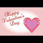 バレンタイン♪かわいい ハートマークのポストカード イラスト(横)