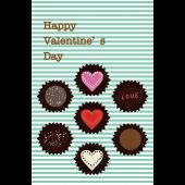 バレンタイン カード フリー イラスト♪チョコレート