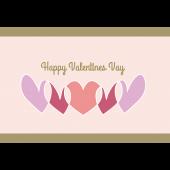 【グリーティング】バレンタインデー ハートのイラストカード