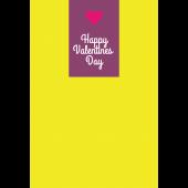 【グリーティング】バレンタインデー ハートのシンプルイラストカード